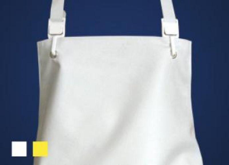 SCHLACHTHAUSFREUND-Export-Gummischürze 1096, Kante genäht, weiß