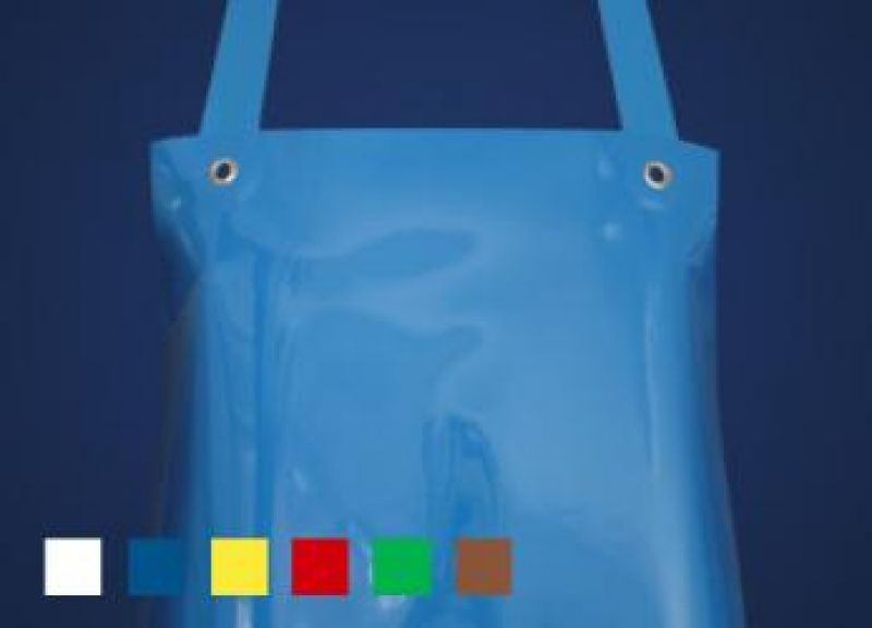 SCHLACHTHAUSFREUND-Ledolin L-Schürze, PU-Gummi-Schürze 1360, blau