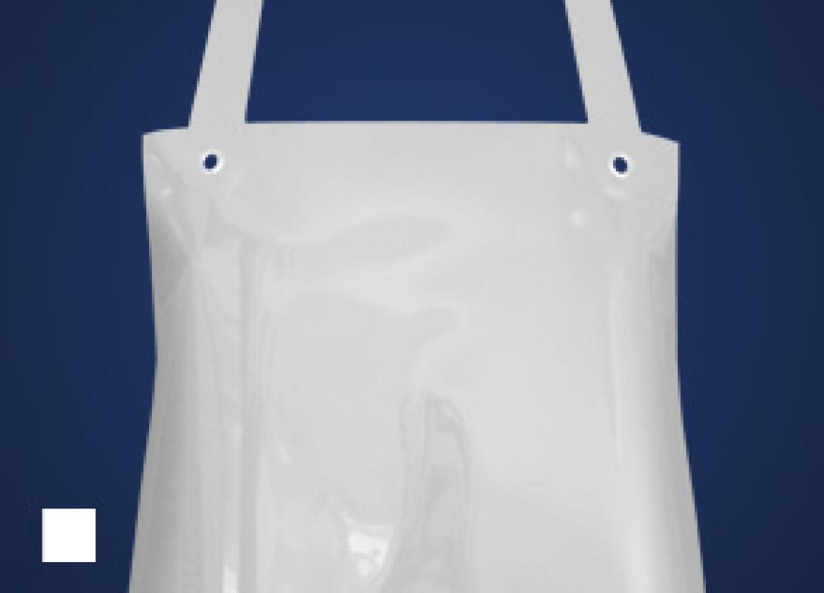 SCHLACHTHAUSFREUND-Ledolin M-Schürze, PU-Gummi-Schürze 1364, weiß