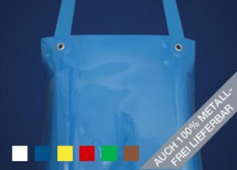 SCHLACHTHAUSFREUND-Ledolin L-90-Schürze, PU-Gummi-Schürze 1398, blau
