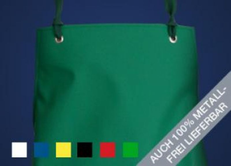 SCHLACHTHAUSFREUND-Ledotex EL-70-Schürze, PU-Gummi-Schürze 1420, grün