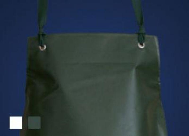 SCHLACHTHAUSFREUND-Pevautex L-Schürze, PVC-Gummi-Schürze 1540, oliv-grün
