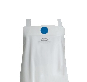 SCHLACHTHAUSFREUND-Ledolin Antibac-Schürze, PU-Gummi-Schürze 1604, weiß