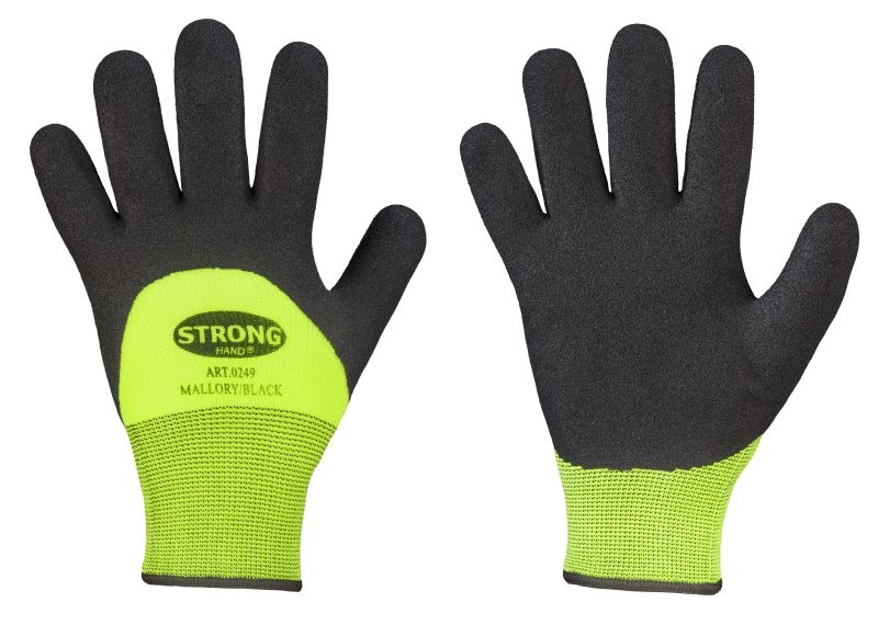 F-STRONGHAND-Nitril-Arbeits-Handschuhe, MALLORY, gelb