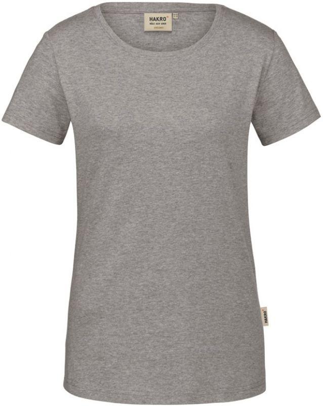 hakro damen t shirt gots organic 160 g m grau meliert. Black Bedroom Furniture Sets. Home Design Ideas