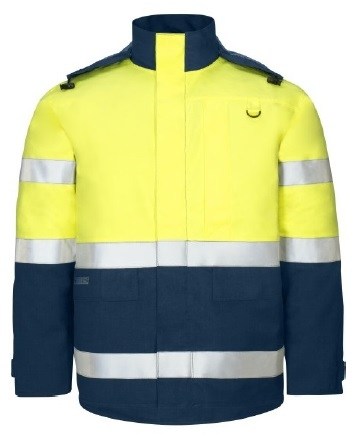 KIND-Schweißer-Warn- und Wetterschutzjacke, ULTRA 200, FA 4000, warngelb/navy