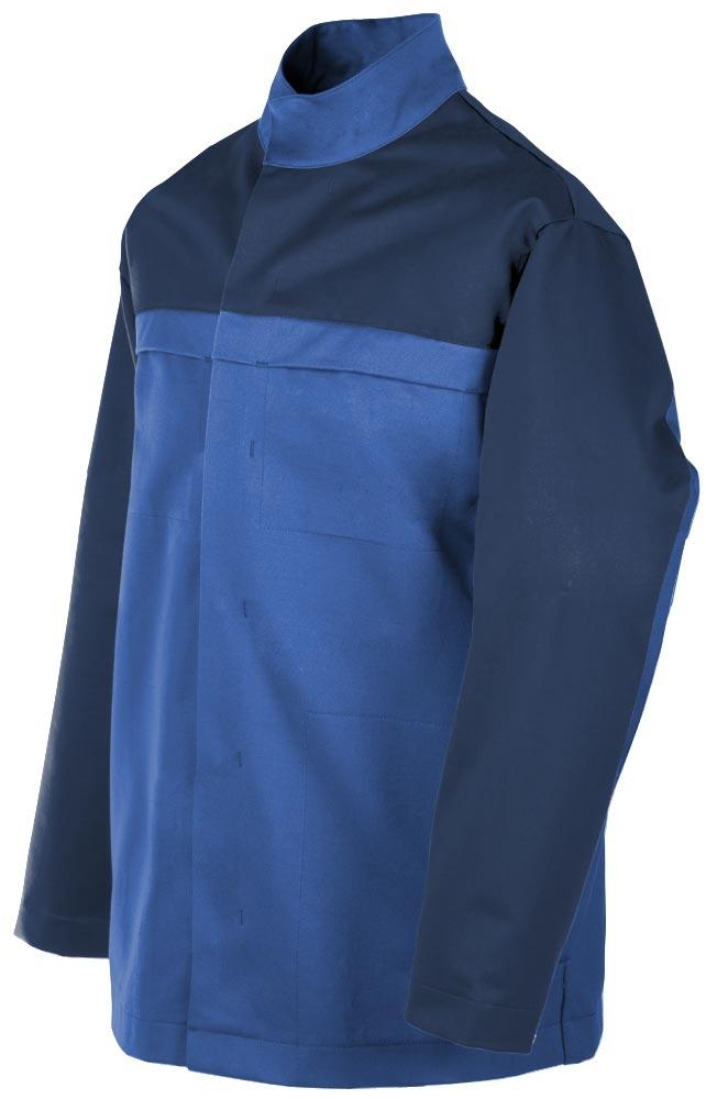 Teamdress-PSA, Gießerei/Schweißer-Jacke, EN ISO 11612, kornblau/marine