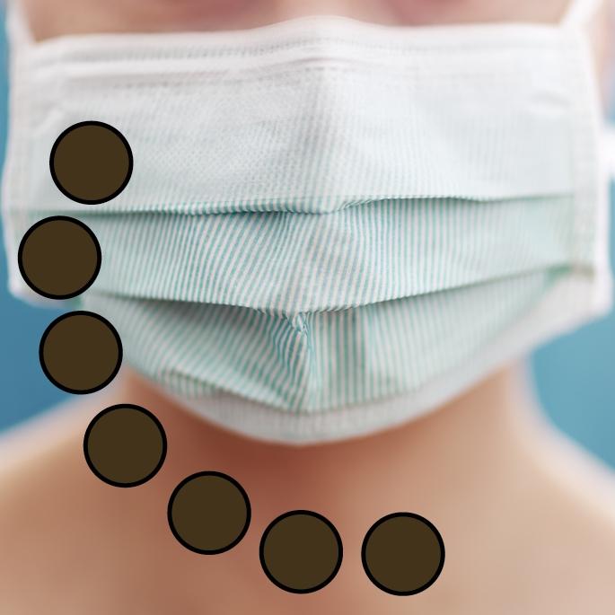 Creativ-Mehrweg-Mundschutz-Gesichtsmaske (wiederverwendbar) mit Gummizug, braun