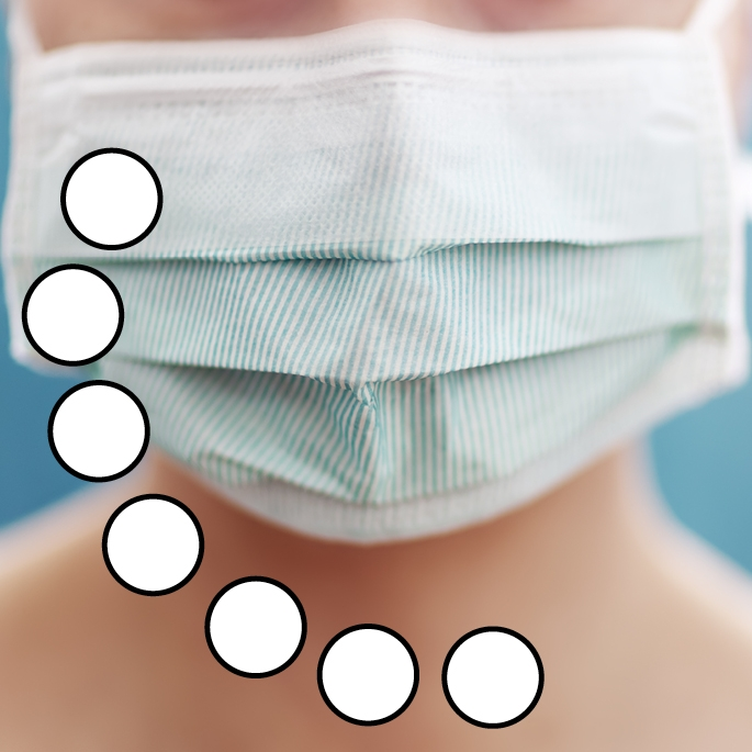 Creativ-Mehrweg-Mundschutz-Gesichtsmaske (wiederverwendbar), mit Gummzug, weiß