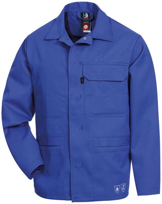 HB-Flammen-/Schweißer-Arbeits-Schutz-Berufs-Jacke, 320 g/m², bugattiblau