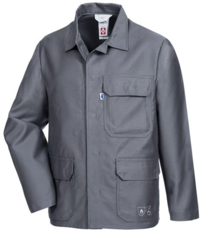 HB-Flammen-/Schweißer-Arbeits-Schutz-Berufs-Jacke, 360 g/m², mittelgrau