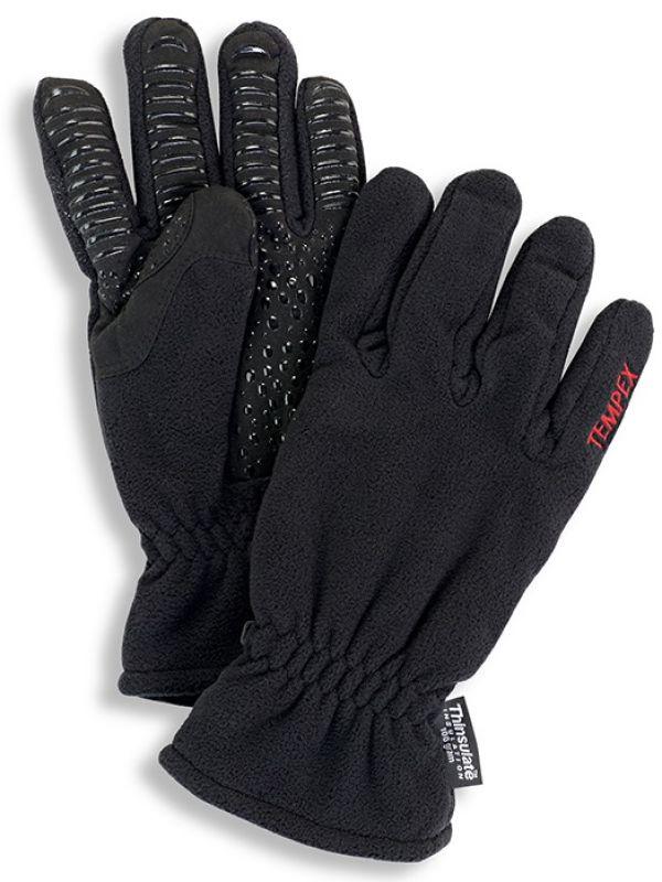 HB-Kälteschutz-Fleece--Arbeits-Handschuhe, schwarz