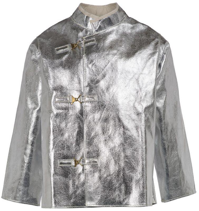 HB-Flammen-/Schweißer-Arbeits-Schutz-Berufs-Jacke, Hitzeschutz-Jacke, 370 g/m², silber