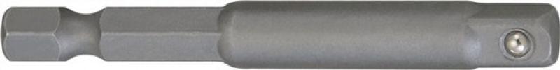 NORDWEST-PROMAT-Bits und Zubehör, Adapter Antriebs-Sechskant 1/4 Zoll Abtriebs-4-KT.1/4 Zoll L.65mm