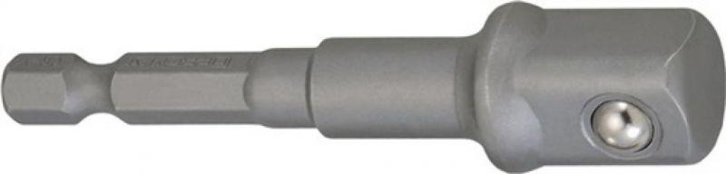 NORDWEST-PROMAT-Bits und Zubehör, Adapter Antriebs-Sechskant 1/4 Zoll Abtriebs-4-KT.1/2 Zoll L.72mm