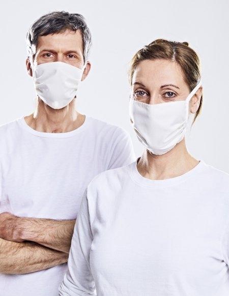 Weiße Pionier Mundschutz-Hygiene-Maske (wiederverwendbar) Bindebänder, 3er Set, weiß