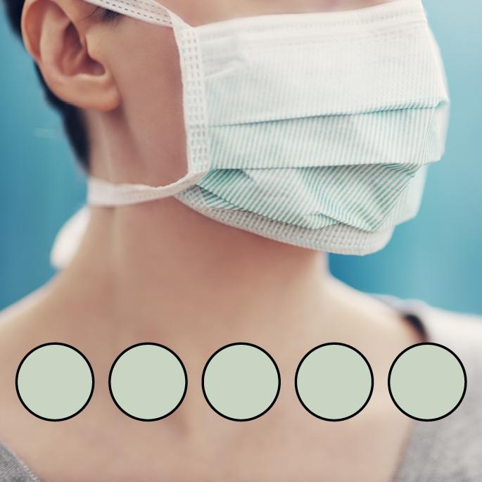 LEIBER-Mund-Nasen-Maske (wiederverwendbar), Bindebänder, mint