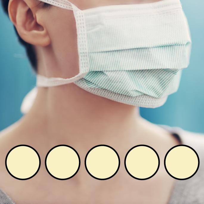 LEIBER-Mund-Nasen-Maske (wiederverwendbar), Bindebänder, gelb