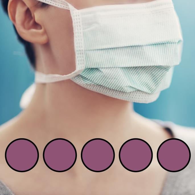 LEIBER-Mund-Nasen-Maske (wiederverwendbar), Bindebänder, brombeer