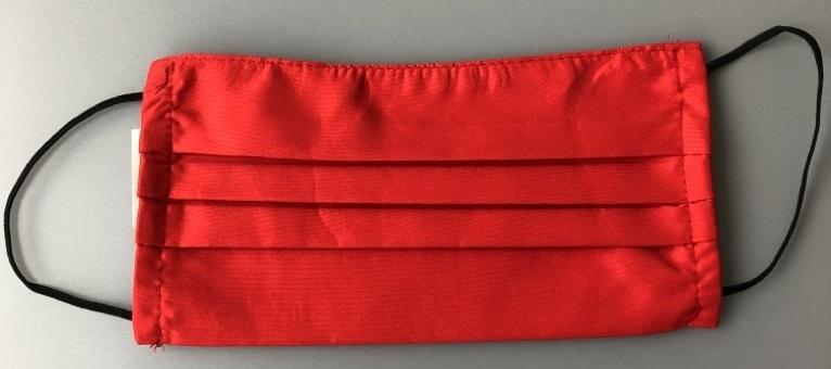 Giblor-Mehrweg-Mundschutz-Gesichtsmaske (wiederverwendbar) mit Gummizug, rot, VE: 2 Stück