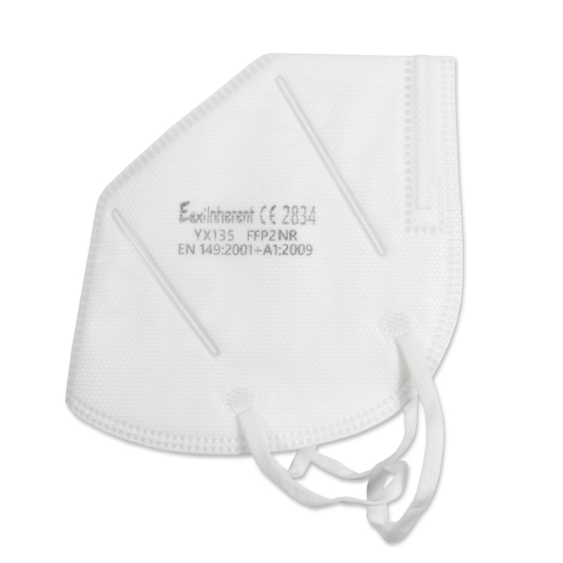 Atemschutzmaske, Faltmaske, FFP2 EEXI, VE = 30 Stück, Ohrenschlaufe, weiß