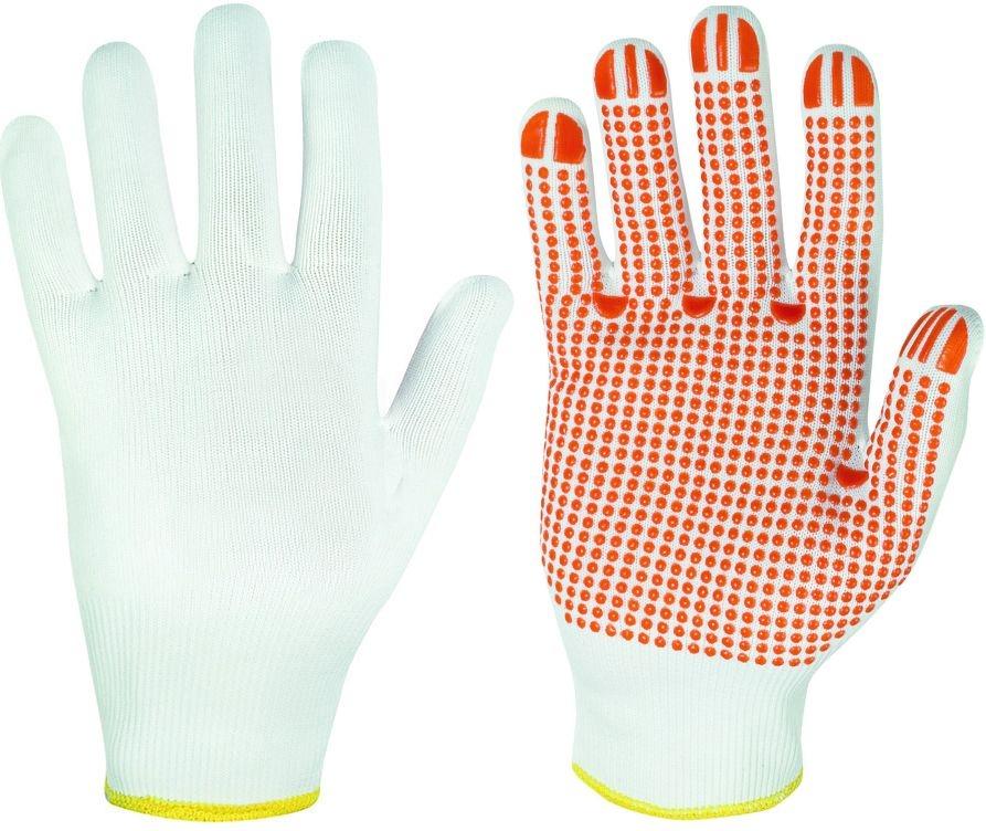 F-STRONGHAND-Strick-Arbeits-Handschuhe, FUZHOU, weiß mit roten No