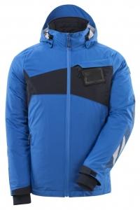 MASCOT-Hard Shell Jacke, ACCELERATE, 115, g/m², azurblau/schwarzblau