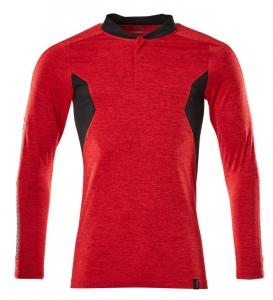 MASCOT-Polo-Shirt, langarm, ACCELERATE, 230 g/m², verkehrsrot/schwarz