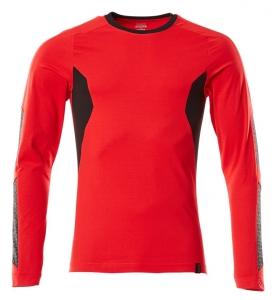 MASCOT-T-Shirt, langarm, ACCELERATE, 195 g/m², verkehrsrot/schwarz