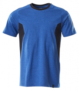 MASCOT-T-Shirt, ACCELERATE, 195 g/m², azurblau/schwarzblau