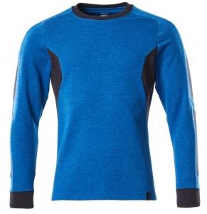 MASCOT-Sweatshirt, ACCELERATE, 310 g/m², azurblau/schwarzblau