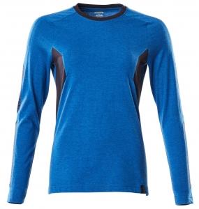 MASCOT-Damen-T-Shirt, langarm, ACCELERATE, 195 g/m², azurblau/schwarzblau