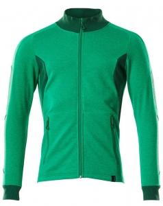 MASCOT-Sweatshirt mit Reißverschluss, ACCELERATE, 310 g/m², grasgrün/grün