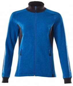 MASCOT-Damen-Sweatshirt mit Reißverschluss, ACCELERATE, 310 g/m², azurblau/schwarzblau