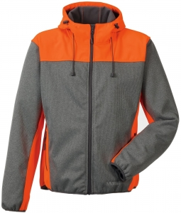 PLANAM-Softshelljacke, Kontrast, 370 g/m², grau/orange