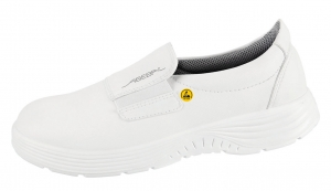 ABEBA-X-LIGHT-O2-Damen-und Herrenslipper, ESD, weiß