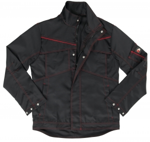 BEB-Bundjacke Inflame Black Edition, 245 g/m², schwarz/fire engine red