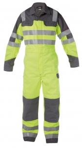 DASSY-Warnschutz-Overall SPENCER , gelb/grau