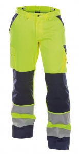 DASSY-Warnschutz-Bundhose BUFFALO  gelb/dunkelblau