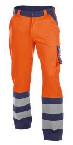 DASSY-Warnschutz-Bundhose LANCASTER orange/dunkelblau