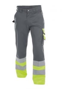 DASSY-Warnschutz-Bundhose OMAHA , gelb/grau