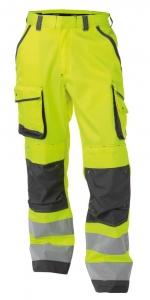 DASSY-Warnschutz-Bundhose CHICAGO , gelb/grau