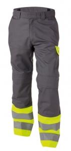 DASSY-Warnschutz-Bundhose LENOX  grau/gelb