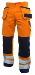 DASSY-Warnschutz-Bundhose, GLASGOW,  orange/dunkelblau