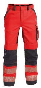 DASSY-Warnschutz-Bundhose ODESSA , rot/grau