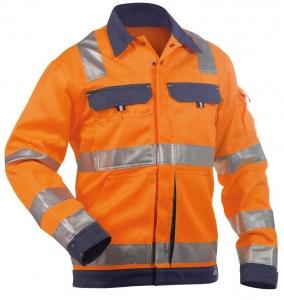 DASSY-Warnschutz-Jacke DUSSELDORF , orange/dunkelblau