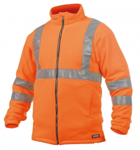 DASSY-Warnschutz-Fleecejacke KALUGA , orange