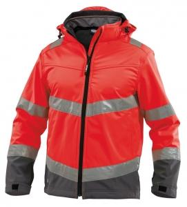 DASSY-Warnschutz-Softshell-Jacke MALAGA  rot/grau