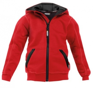 DASSY-Kapuzensweatshirt WATSON KIDS,  rot/schwarz