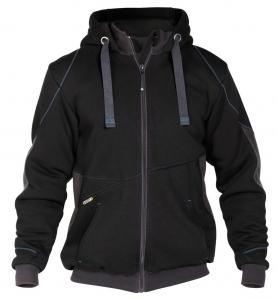 DASSY-Sweatshirt-Jacke PULSE, schwarz/grau
